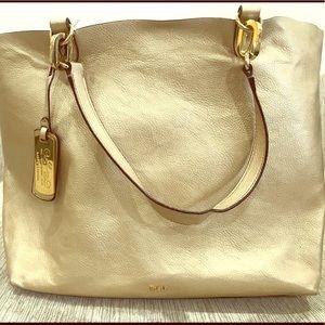 Lauren Ralph Lauren Gold Tote Bag